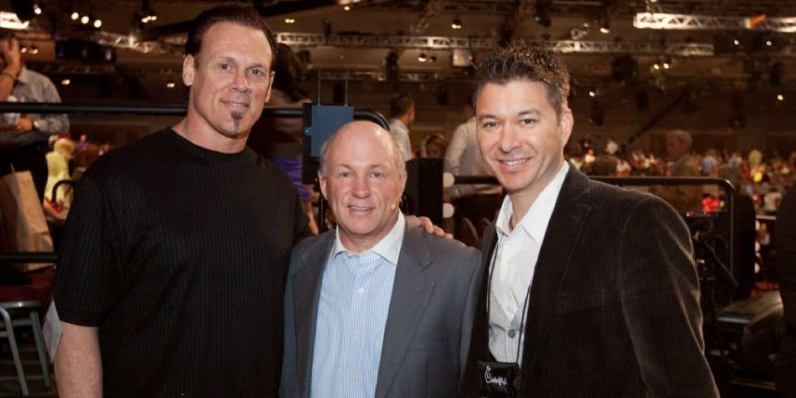Sting (izquierda) sin maquillaje Foto:WWE