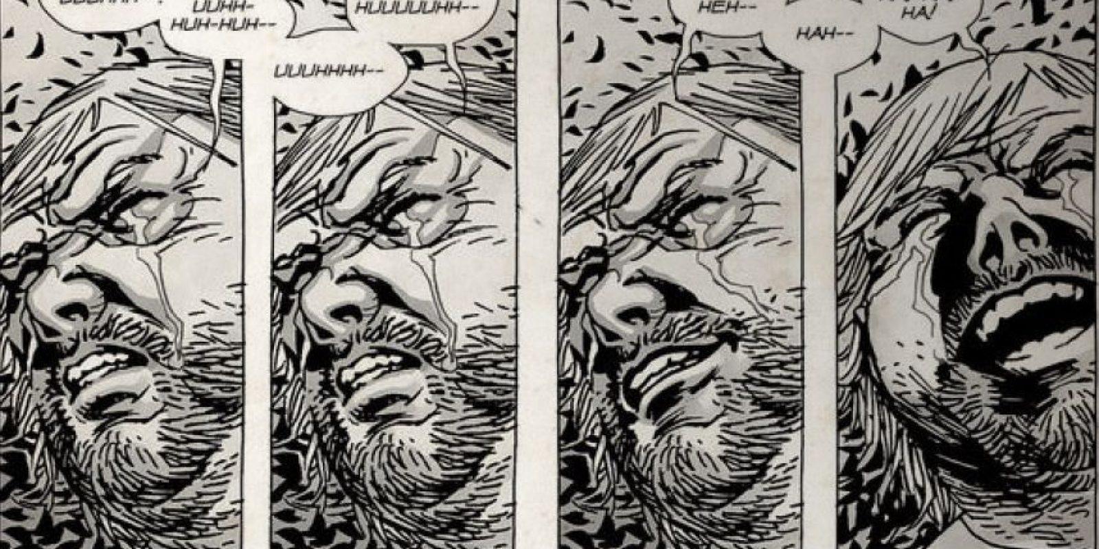 En la serie, muere en una granja por culpa de un zombie, mientras que en el cómic muere tiempo después. Foto:thewalkingdead.com