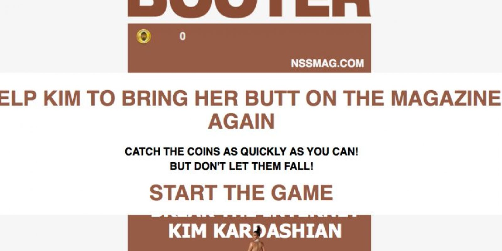 """""""Booter"""" es el juego en línea inspirado en el trasero de Kim Foto:Booter"""