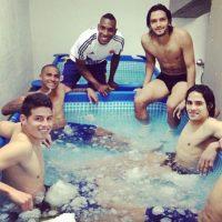 Esta fue una de las fotos de descanso en la eliminatoria Foto:Instagram/jamesrodriguez