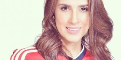 Así se veía antes, con la camiseta de la selección Colombia Foto:Instagram/Daniela Ospina