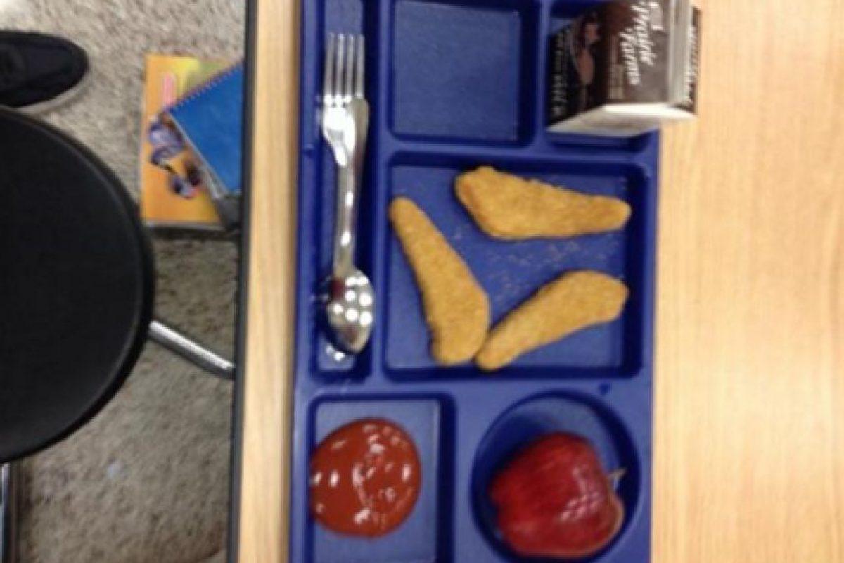 4. Además del aspecto de la comida, los adolescentes aseguran que las porciones son muy pequeñas. Foto:Vía Twitter @garretfreeman4
