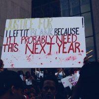 """""""Justicia para _____. Lo dejo en blanco porque probablemente lo necesitaré el año que viene"""", compartió la cantante Rihanna Foto:Instagram badgalriri"""