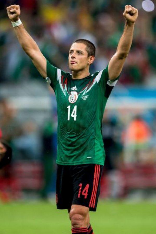 """""""Chicharito"""" es delantero del Real Madrid de España a sus 26 años de edad. Foto:Getty Images"""