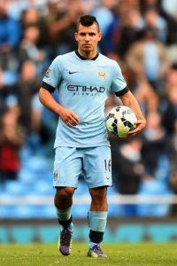 Sergio Agüero estará en la delantera del equipo inglés Foto:Getty