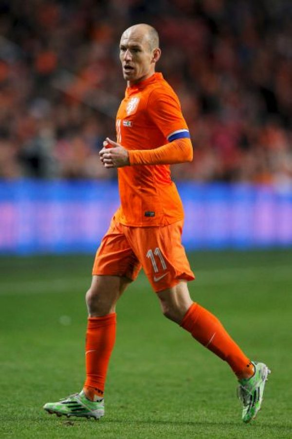 Robben ha ganado la UEFA Champions League y quedó en tercer lugar de la Copa del Mundo. Foto:Getty Images