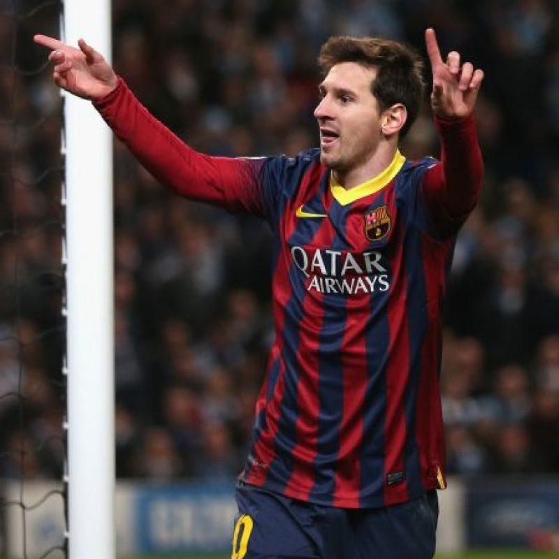 Messi ha conseguido sus goles con el FC Barcelona de España. Foto:Getty Images