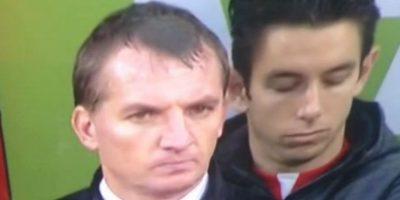 Brad Jones se quedó dormido en el partido entre Liverpool y Crystal Palace Foto:Vine: Periodista_Fut
