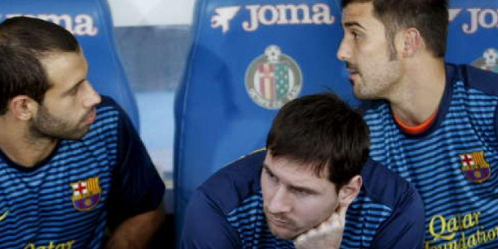 Lionel Messi también ha probado la molestia de estar en la banca Foto:Getty