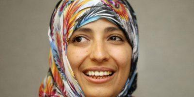 Tawakkul Karman es premio Nóbel de Paz 2011. Es periodista y activista política Foto:Getty Images
