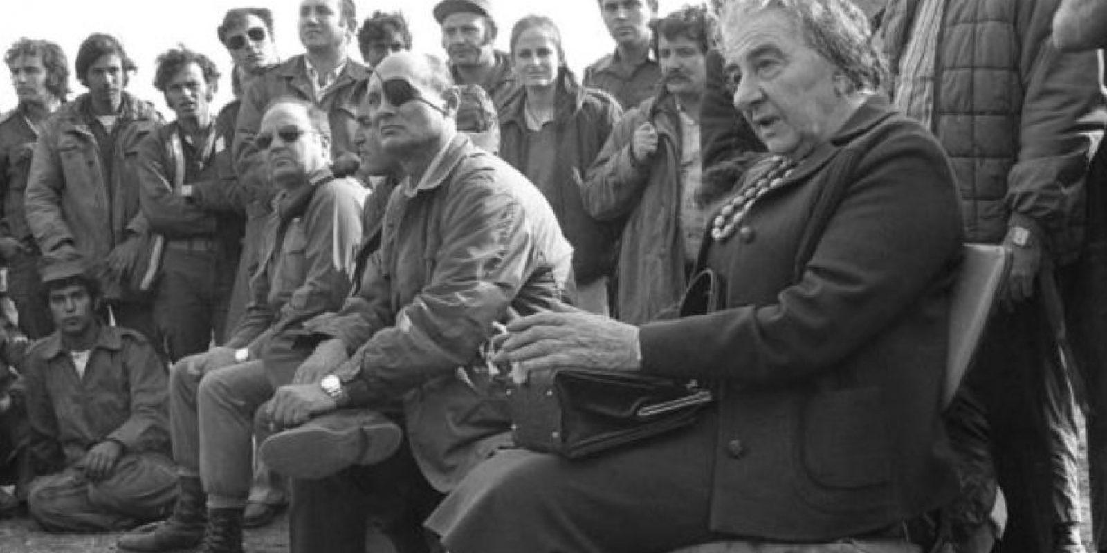 Golda Meir fue la primera ministra de Israel en los años 70 Foto:Wikipedia