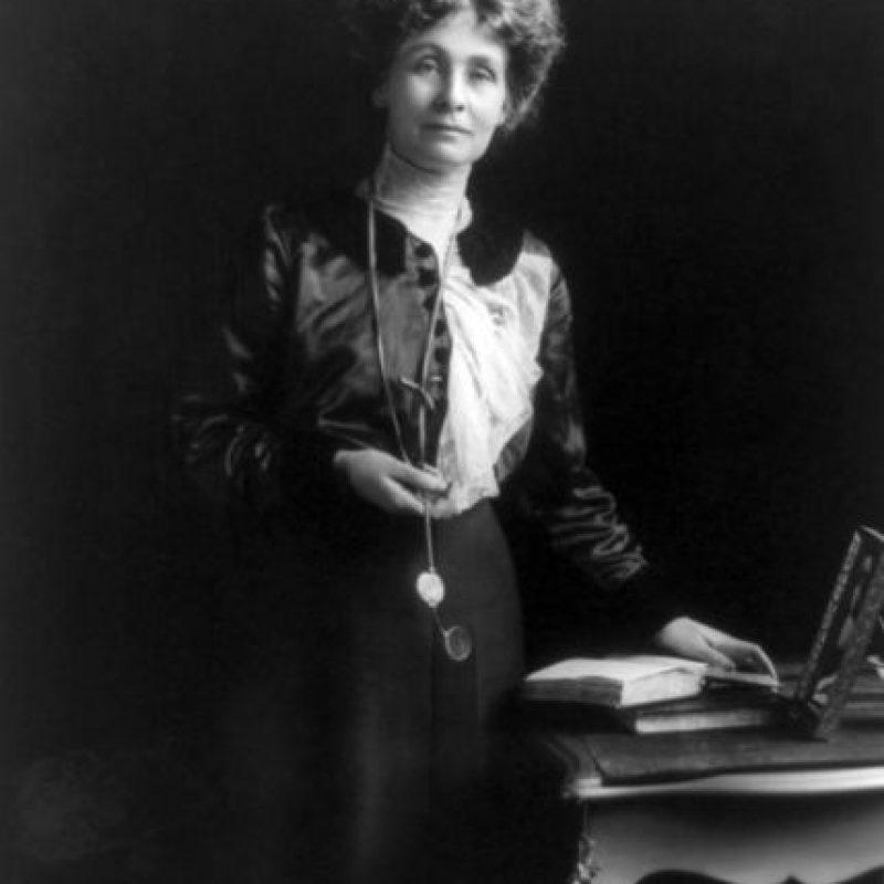 Emmeline Pankhurst fue una de las primeras sufragistas en luchar por el derecho al voto en el Reino Unido Foto:Wikipedia