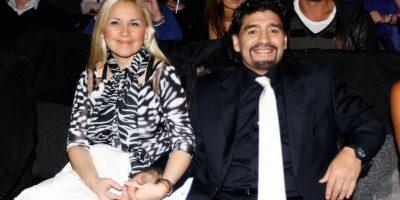 Verónica Ojeda y Diego Armando Maradona cuando estaban juntos. Foto:Getty Images