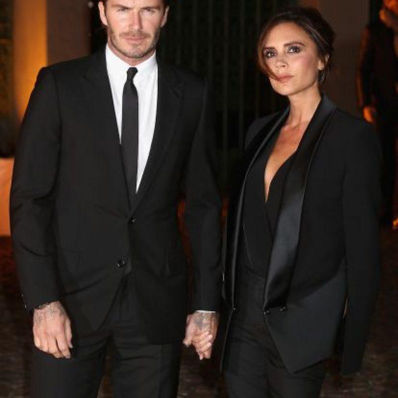 Victoria y David Beckham. Foto:Getty Images