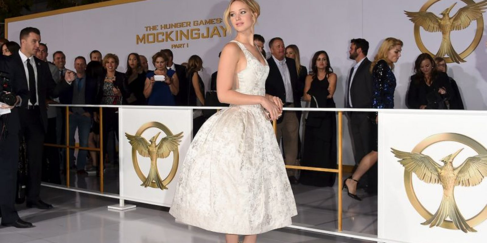 """Los trabajos de Lawrence la han llevado a ser definida, por la revista Rolling Stone, como """"la actriz juvenil más talentosa de Estados Unidos"""" Foto:Getty Images"""