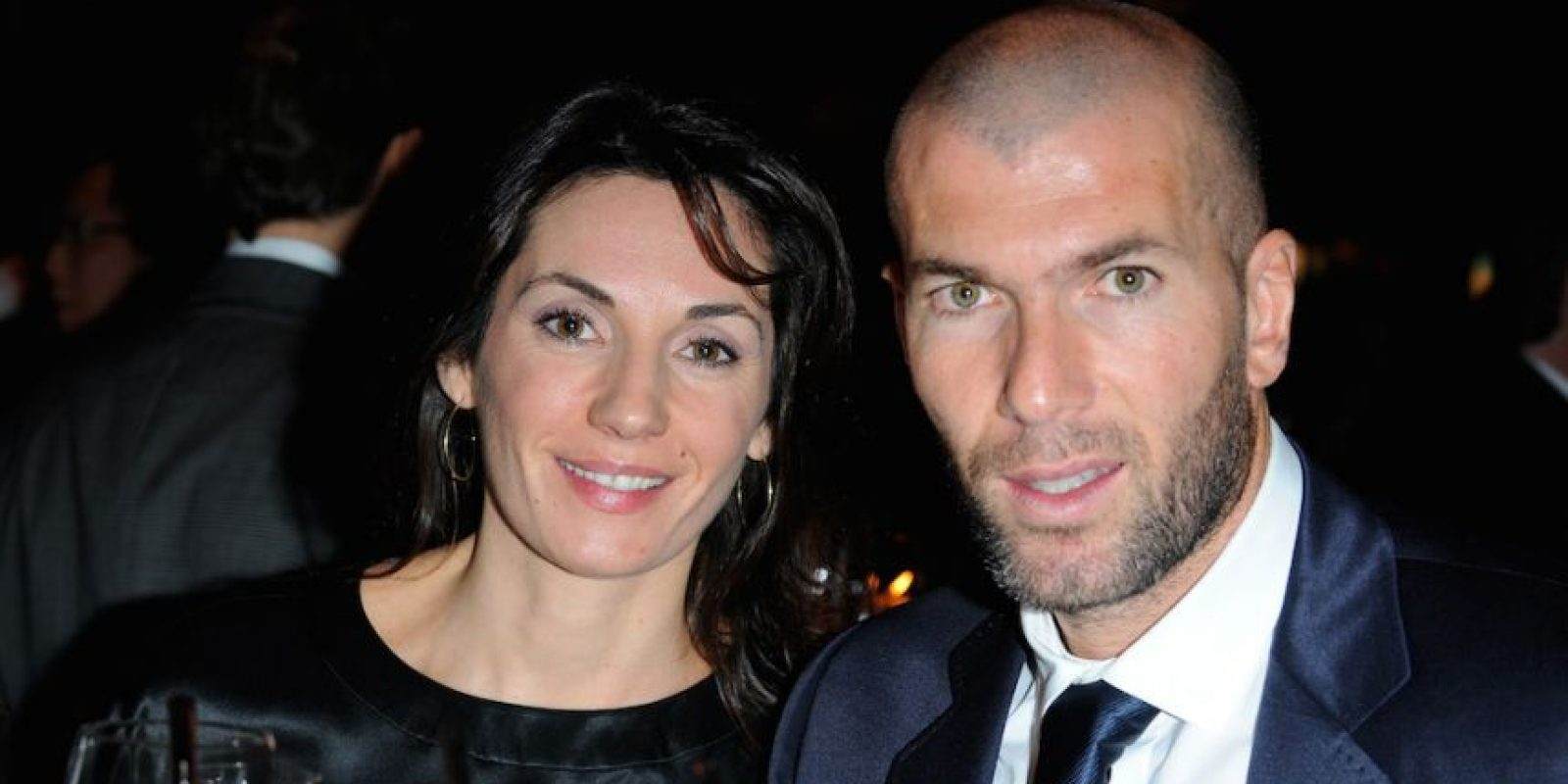 Véronique Fernández y Zinedine Zidane. Foto:Getty Images