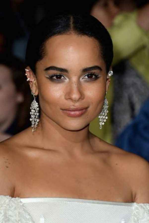 Zoe Kravitz tenía su pelo sin alterar. Foto: Getty Images