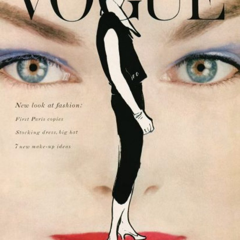 """""""Ojos en la modelo"""", portada de 1954 Foto:Vogue"""