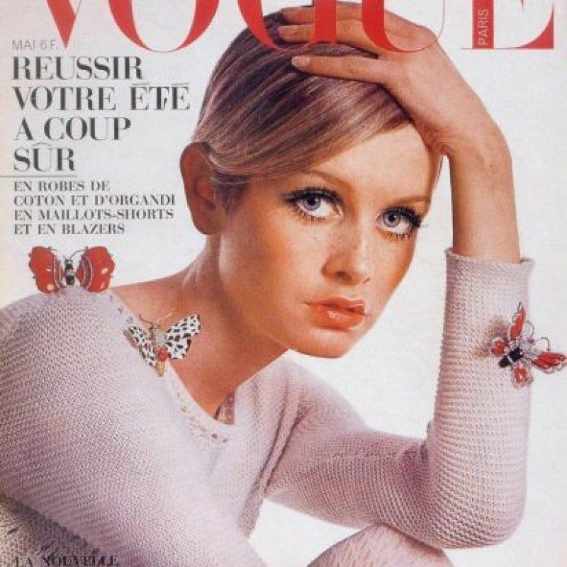 Twiggy, como el nuevo ícono de moda de los años 60 Foto:Vogue