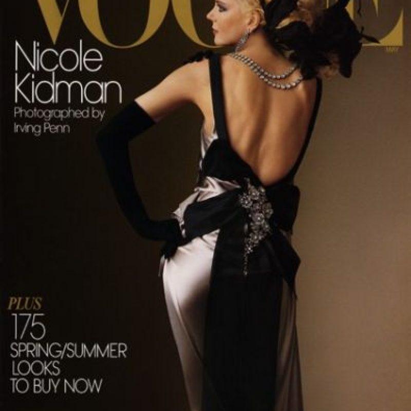 Nicole Kidman, en 2004. Fotografiada por Irving Penn, era una de las actrices más importantes del momento. Foto:Vogue