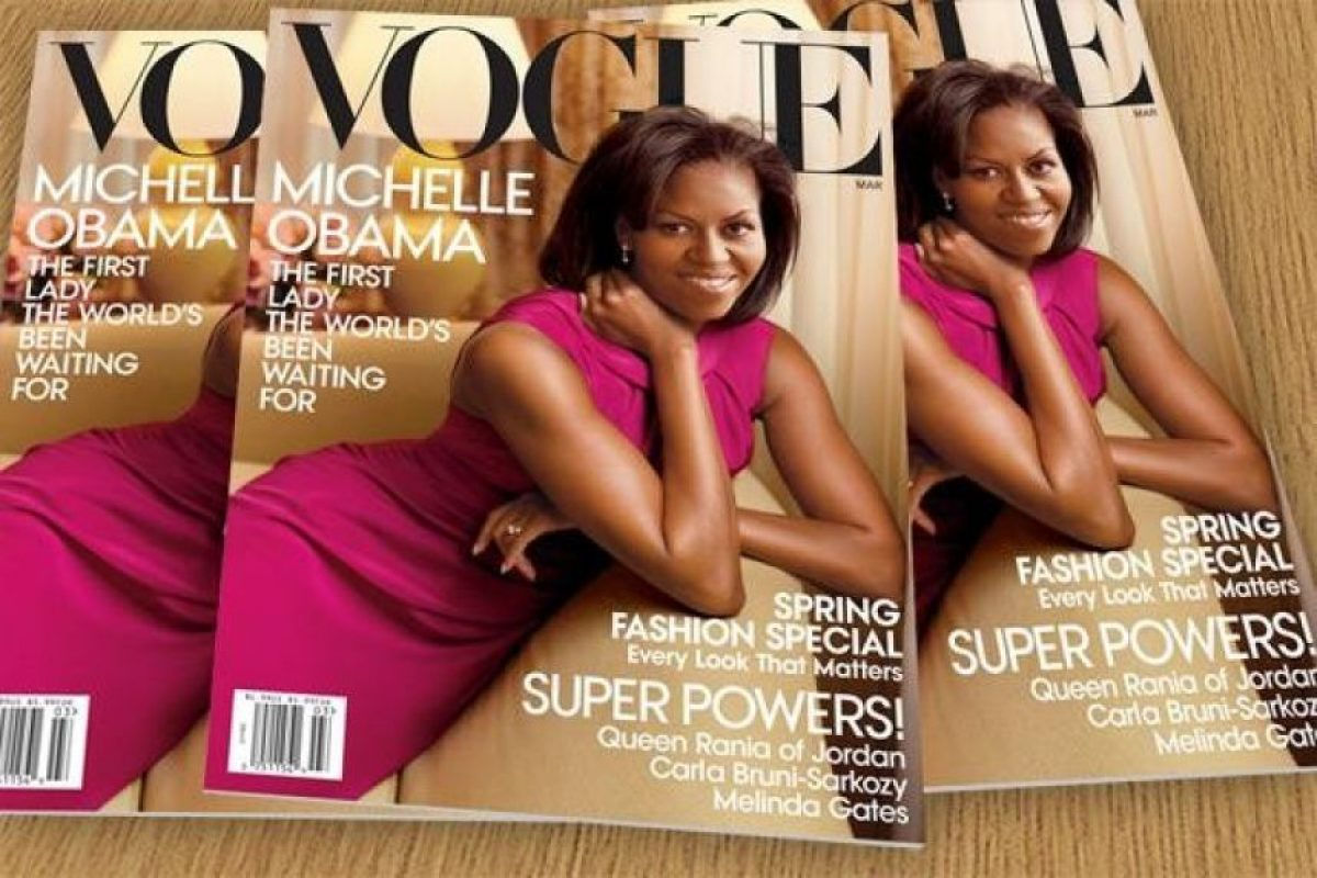 Michelle Obama, en 2012. Desde hace tiempo (en la época de Jackie Kennedy) una Primera Dama no era mostrada como ícono de estilo Foto:Vogue