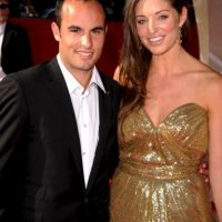 Landon Donovan y Bianca Kajlich. Foto: Getty Images