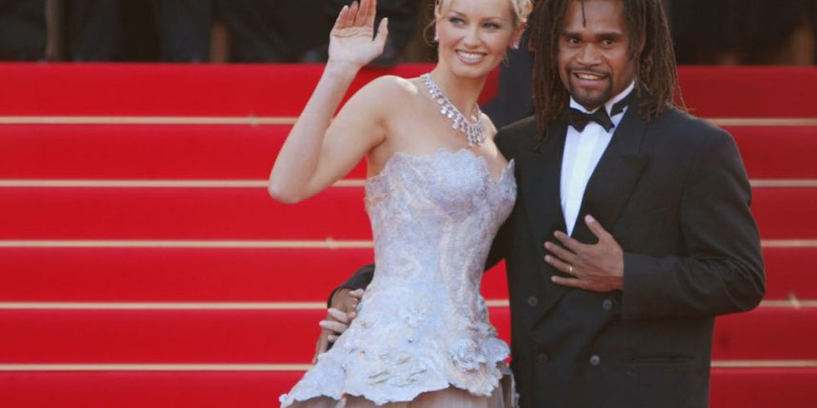 Adriana y Christian Karembeu. Foto: Getty Images