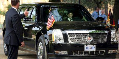 """El mandatario utiliza una limosina llamada """"La Bestia"""" o """"Cadillac One"""" Foto:Getty Images"""