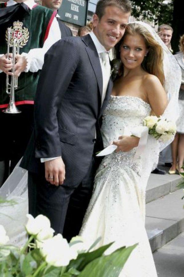 Van der Vaart y Meis se casaron en 2005 y un año después tuvieron a su hijo Damián. Foto:Getty Images