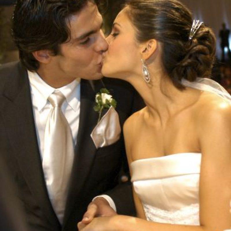 Kaká y Celico se casaron en 2005. Tienen dos hijos: Isabella y Luca. Foto:Getty Images
