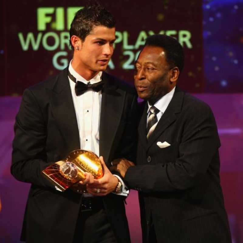 Cristiano Ronaldo y Pelé. Foto: Getty Images