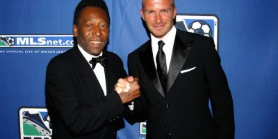 Pelé y el futbolista inglés David Beckham. Foto: Getty Images