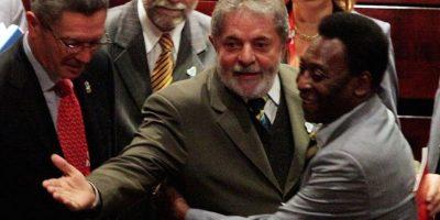 El expresidente braiseño Luiz Inácio Lula da Silva y Pelé. Foto:Getty Images