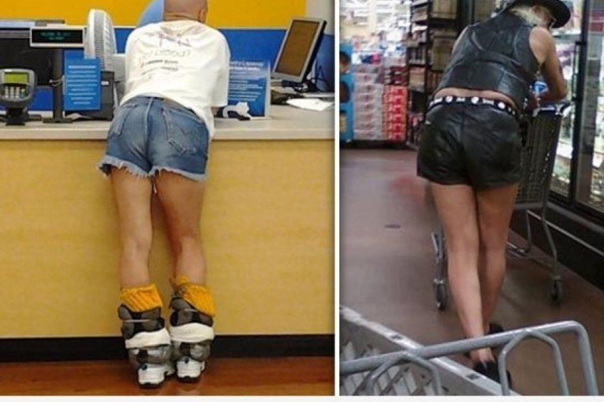 Hot pants para hombres. Todo es posible. Foto:Poorly Dressed