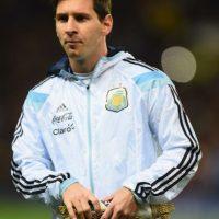 El argentino acaba de romper el récord como máximo goleador de la Champions y de la Liga de España Foto:Getty