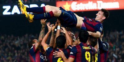 Piqué y Messi suelen festejar juntos los triunfo culés Foto:Getty