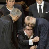 Fotografía del homenaje que se le rindió a Chespirito el 29 de febrero de 2012 Foto:AP