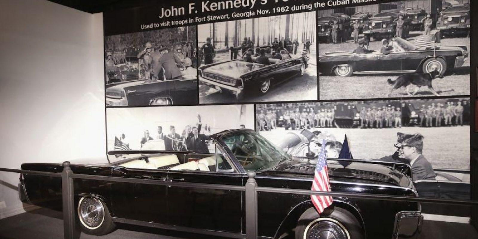 Auto en el que viajaba Kennedy durante el atentado de 1963. Foto:Getty Images