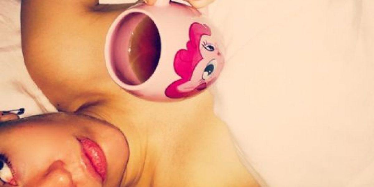 FOTO: ¡En topless! Así celebró Miley Cyrus el