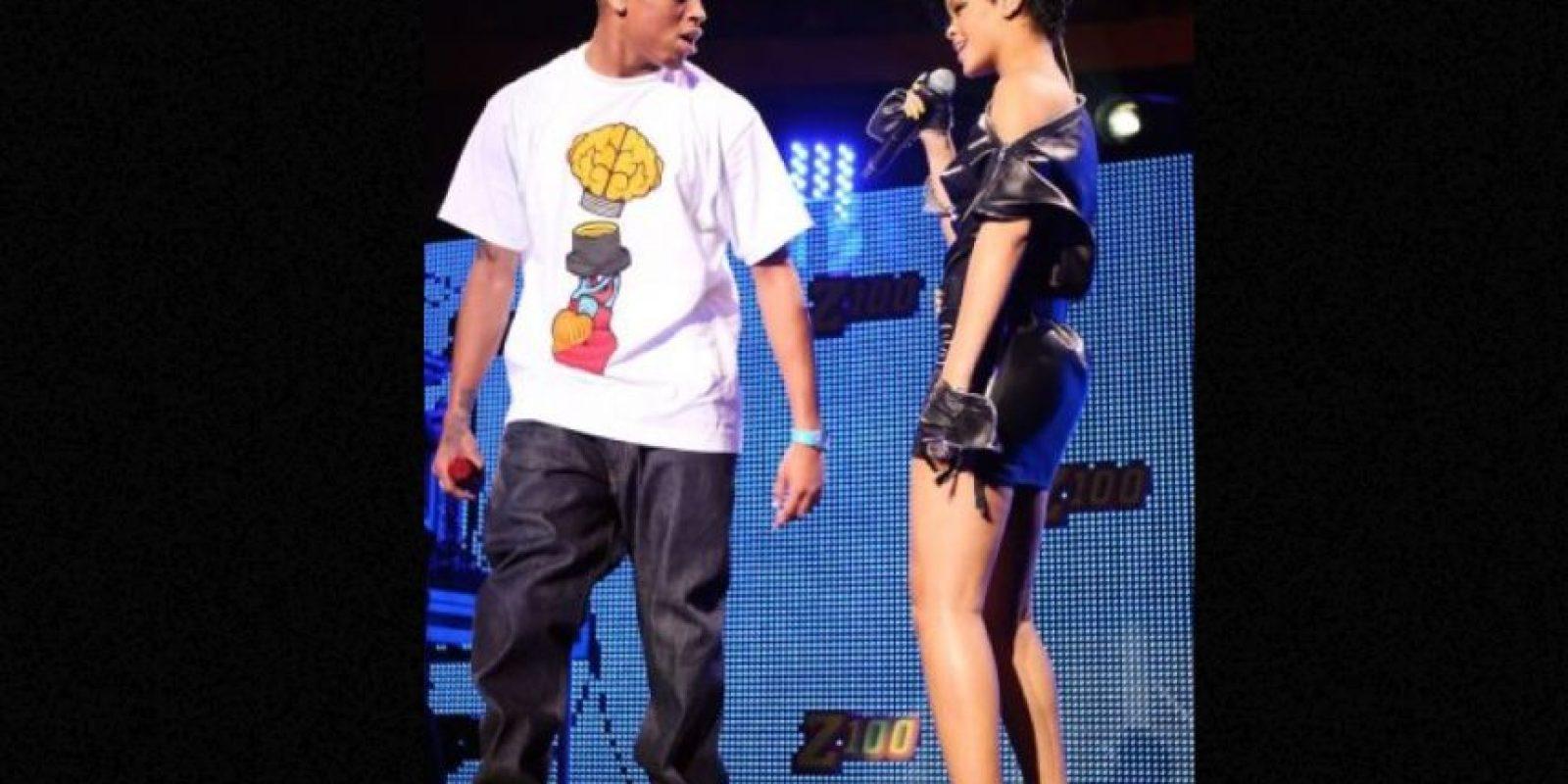 Chris Brown: Golpeó a Rihanna en 2009, un día antes de la entrega de premios Grammy. Foto:Getty Images