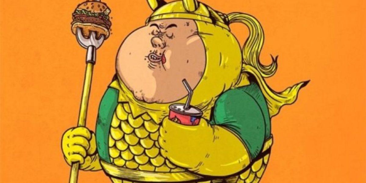 FOTOS: Así serían Gokú, Batman y otros famosos si fueran obesos