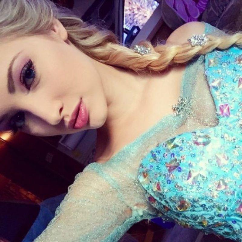 Anna Faith soñaba con ser una actriz y cantante que pudiera trabajar con niños y ahora es la imitadora de Elsa Foto:Instagram/Anna Faith