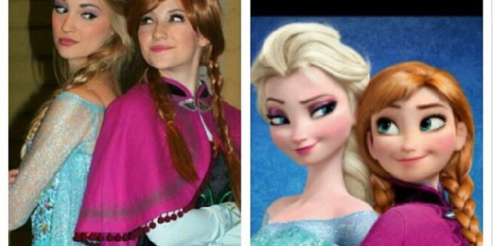 """Anna y Lexie Faith son las imitadoras más populares de Elsa y Anna de """"Frozen"""" Foto:Instagram/Lexiegracelove"""