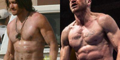 """Aquí una comparación entre el físico de Gyllenhaal cuando filmó """"Príncipe de Persia: Las Arenas del Tiempo"""" (2010) y """"Southpaw"""" (2015)"""