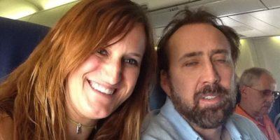 Nicolas Cage en un avión Foto:Instagram