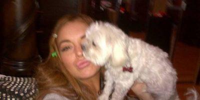 Lindsay Lohan y su perro Foto:Instagram
