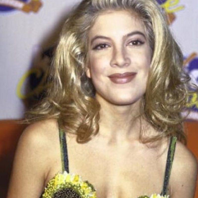 "Tori Spelling lucía así para la época de ""Beverly Hills"" Foto:Getty Images"