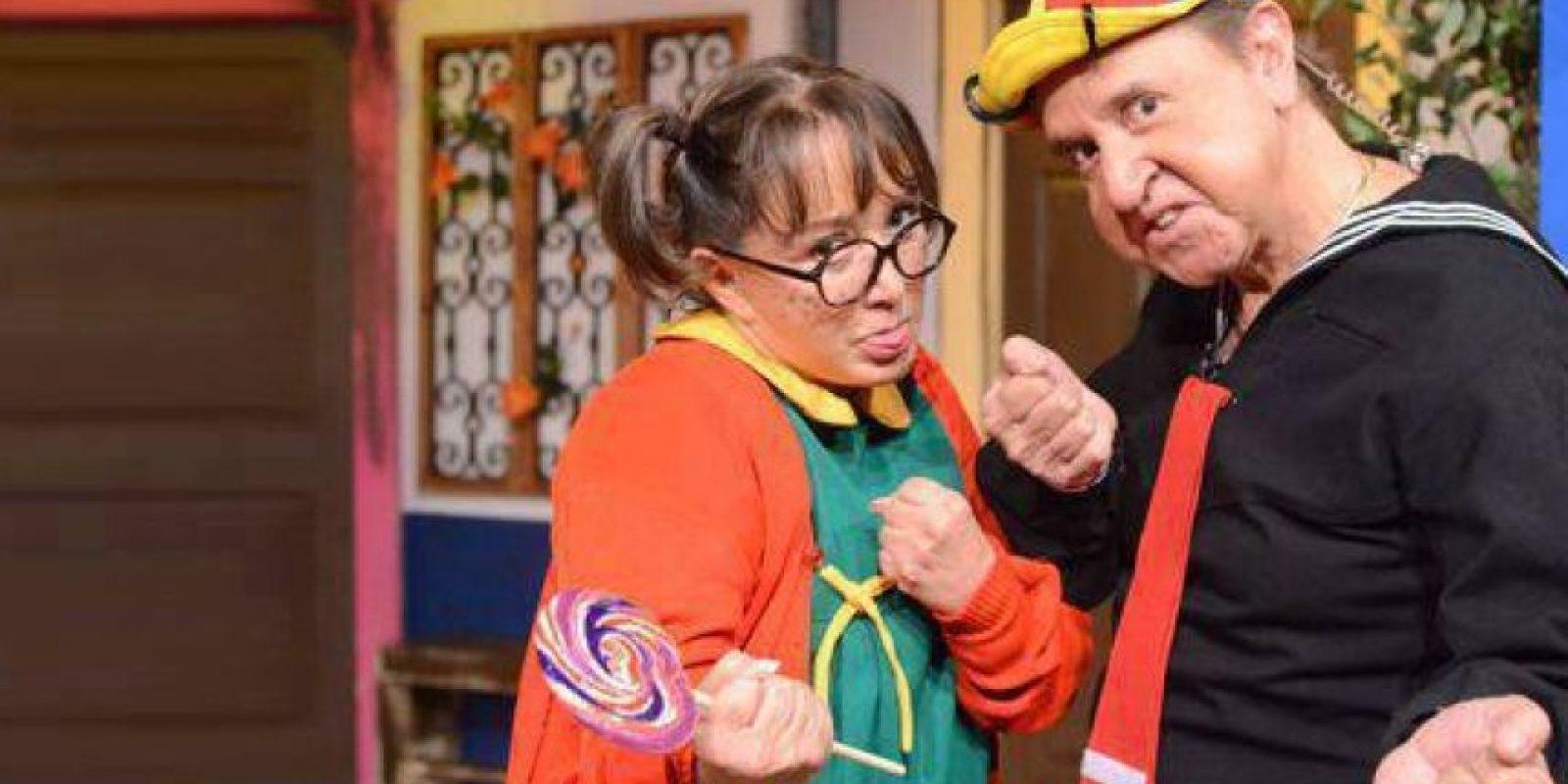 """Chespirito también se enfrentó a este problema con María Antonieta de las Nieves por el personaje de """"La Chilindrina"""". Foto:Facebook/Carlos Villagrán"""
