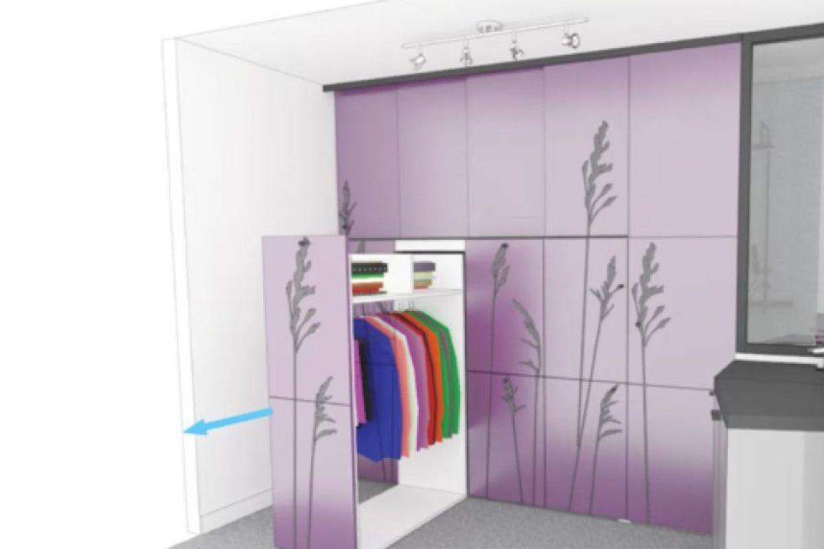 En otra sección se pueden guardar la ropa y algunos accesorios Foto:Vimeo/Kitoko