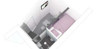 La vista aerea de este innovador hogar Foto:Vimeo/Kitoko